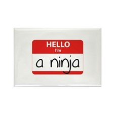 Hello I'm a Ninja Rectangle Magnet (10 pack)