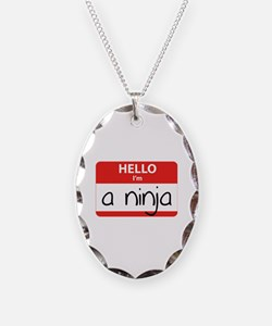 Hello I'm a Ninja Necklace