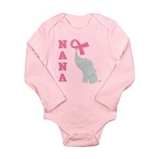 Breast Cancer Nana Support Long Sleeve Infant Body