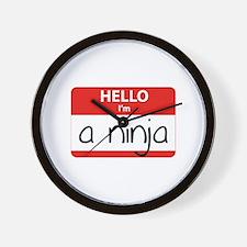 Hello I'm a Ninja Wall Clock