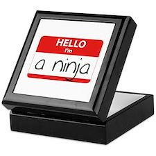 Hello I'm a Ninja Keepsake Box