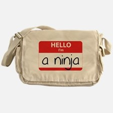 Hello I'm a Ninja Messenger Bag