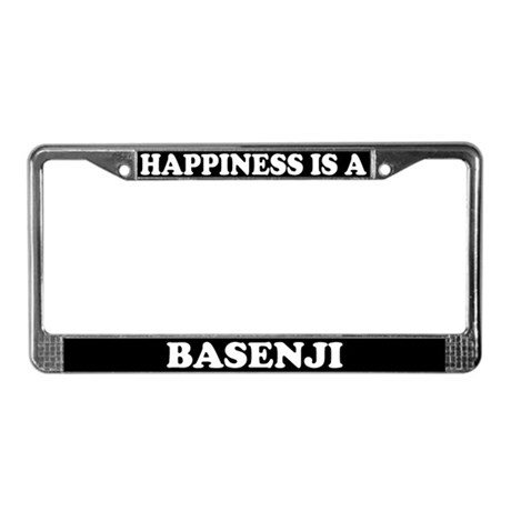 Happiness Is A Basenji License Plate Frame