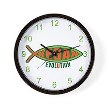 Vegan Evolution Ichthys Wall Clock