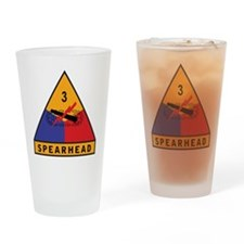 3rd Armored Division - Spearh Drinking Glass