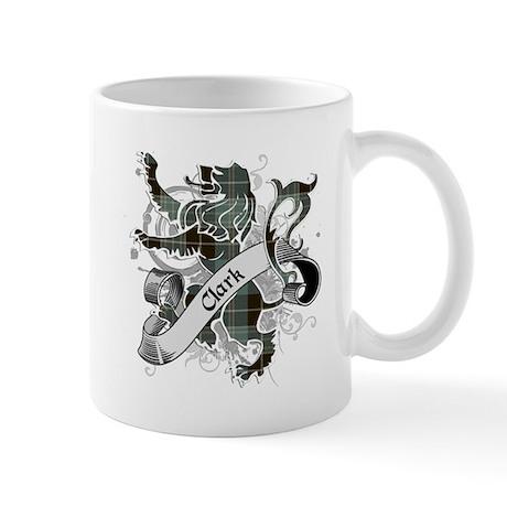 Clark Tartan Lion Mug