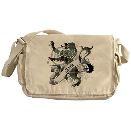 Clark Tartan Lion Messenger Bag