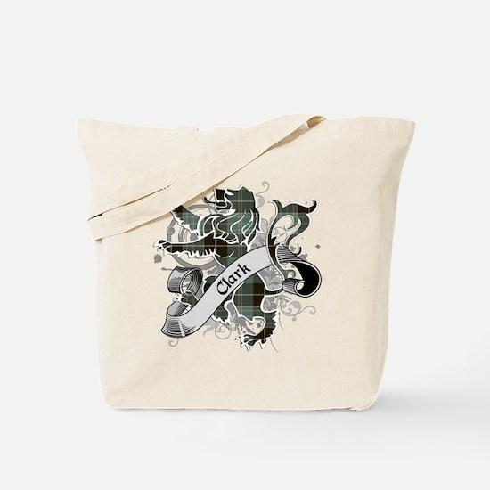 Clark Tartan Lion Tote Bag