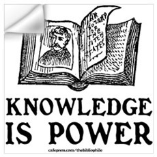 Knowledge Is Power Wall Decal