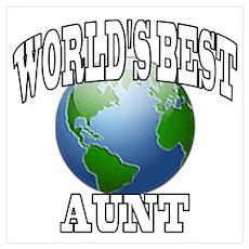 WORLD'S BEST AUNT Poster