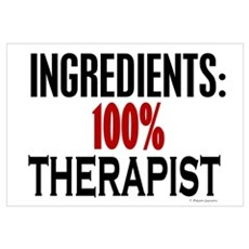 Ingredients: Therapist Framed Print
