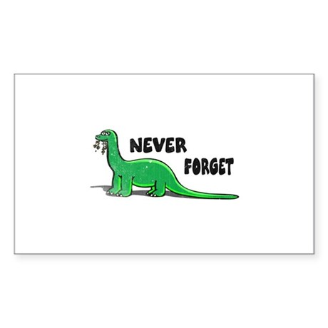 Never forget Sticker (Rectangle)