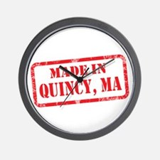 MADE IN QUINCY, MA Wall Clock