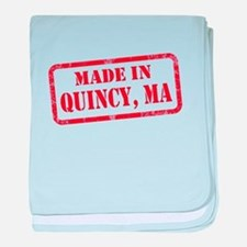 MADE IN QUINCY, MA baby blanket