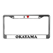 I Love Okayama License Plate Frame
