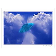 Warp Speed UFO Poster