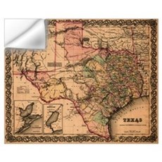 Antique Map of Texas Wall Decal
