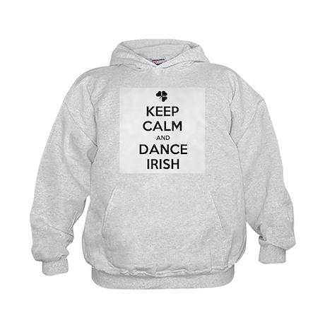 KEEP CALM DANCE IRISH Kids Hoodie