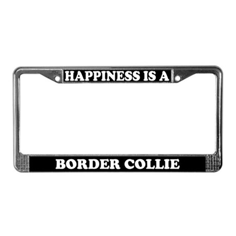 Happiness Is A Border Collie License Plate Frame