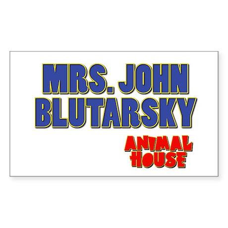 Mrs. John Blutarsky Animal House Sticker (Rectangl