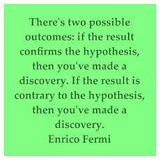 Enrico Fermi quotes Poster