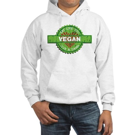 Vegan Eat Like You Give a Damn Hooded Sweatshirt