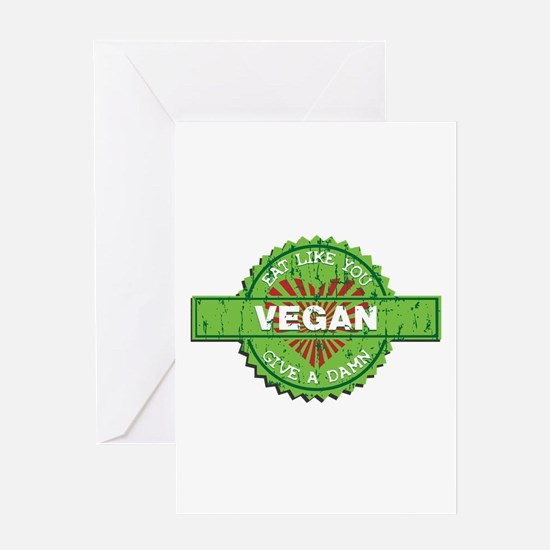 Vegan Eat Like You Give a Damn Greeting Card