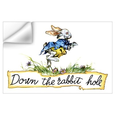 DOWN THE RABBIT HOLE Wall Decal