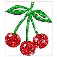 Sparkling Cherries Canvas Art