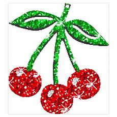 Sparkling Cherries Poster