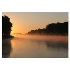 Mississippi River Sunrise, Framed Print
