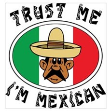 Trust Me I'm Mexican Poster