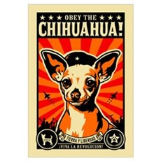 Obey the Chihuahua! Rev Framed Print