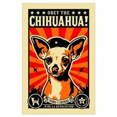 Obey the Chihuahua! Rev Poster