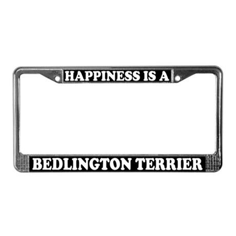 Happiness Bedlington Terrier License Plate Frame