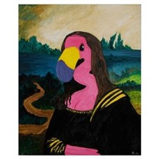 Mona Flamingo Canvas Art