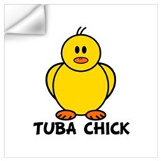 Tuba Chick Wall Decal