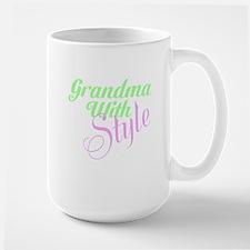 Grandma With Style Large Mug