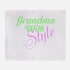 Grandma With Style Throw Blanket