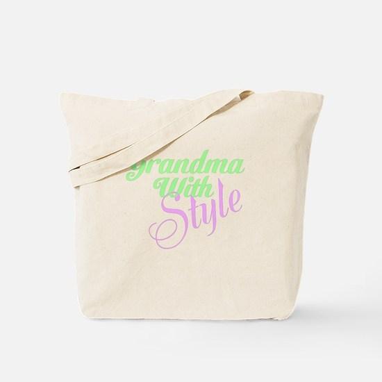 Grandma With Style Tote Bag