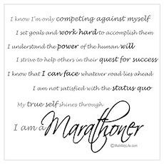 I Am a Marathoner Poster