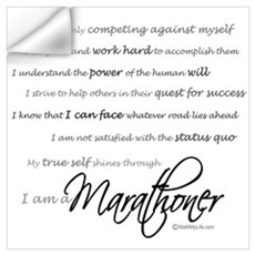 I Am a Marathoner Wall Decal