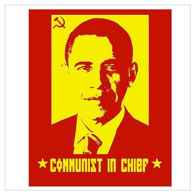 Obama Communist in Chief Poster