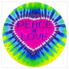 Peace & Love Canvas Art