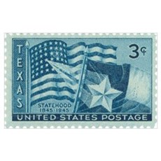 Texas Stamp Poster