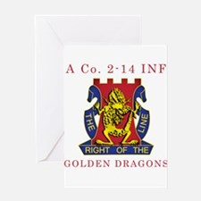 A Co 2-14 INF - Golden Dragon Greeting Card