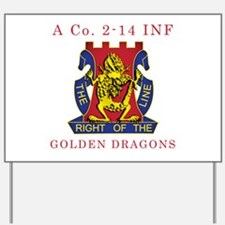 A Co 2-14 INF - Golden Dragon Yard Sign