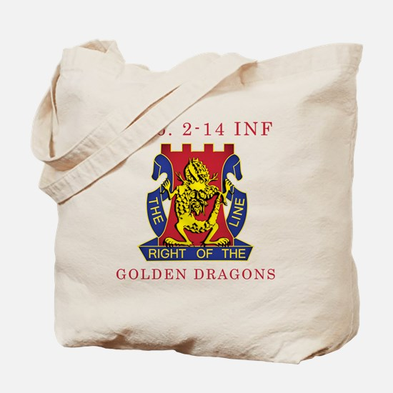 A Co 2-14 INF - Golden Dragon Tote Bag