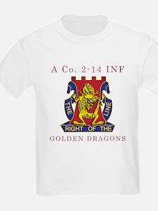 A Co 2-14 INF - Golden Dragon T-Shirt