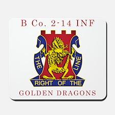 B Co 2-14 INF - Golden Dragon Mousepad